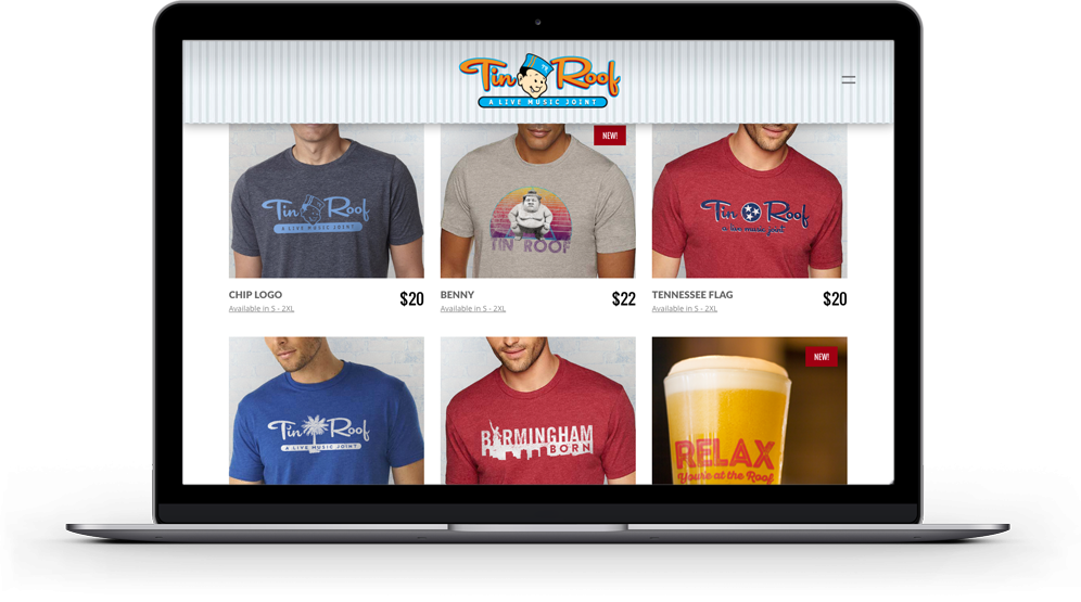 Tin Roof Webstore
