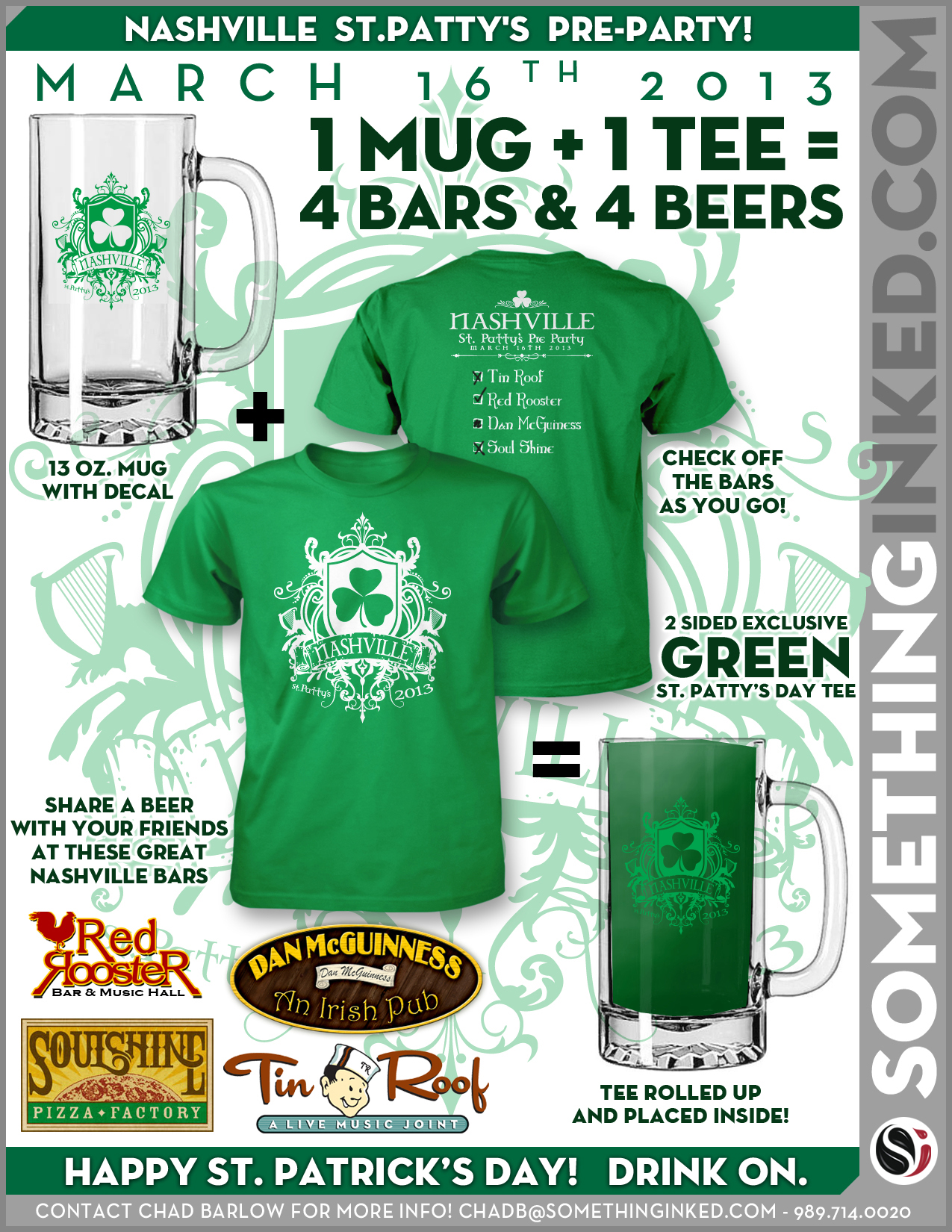 St. Patrick's Day Mug and Tee Combo
